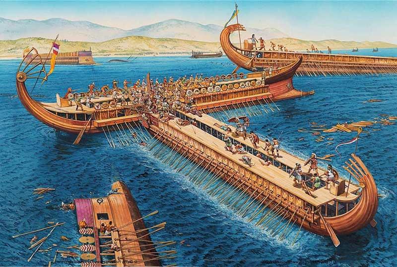 Batalla de Salamina Segunda Guerra Médica Tirremes