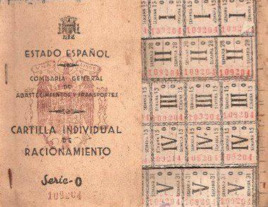 cartillas de racionamiento cartillas de racionamiento guerra civil española cartillas de racionamiento alimentos