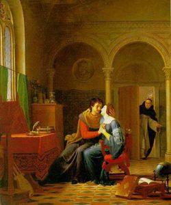Eloísa y Abelardo enamorados