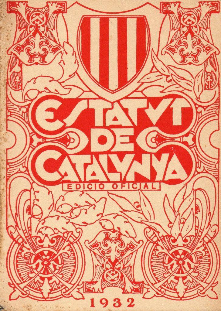 Estatuto Cataluña 1932 República catalana independentismo