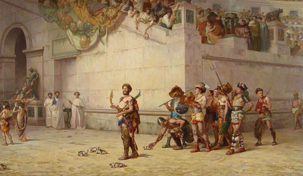 Pan y circo gladiadores en el circo romano