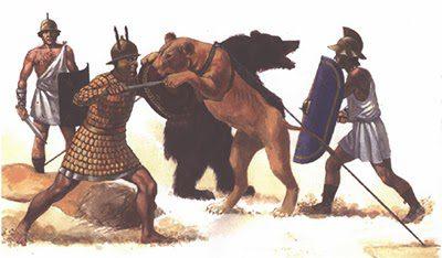 anfiteatro romano, gladiadores y fieras