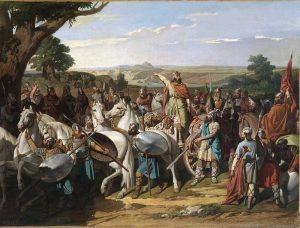 Don Rodrigo en la batalla de Guadalete
