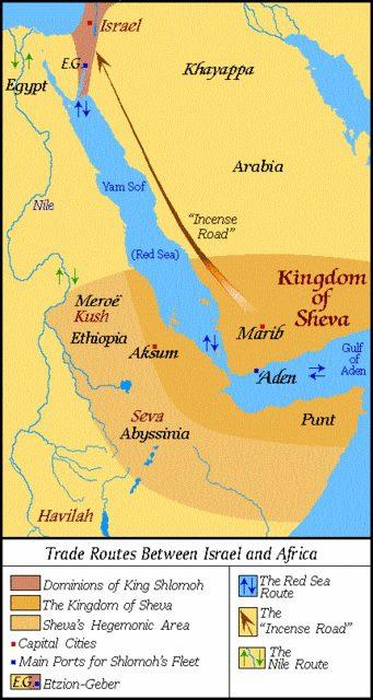 mapa reino de Saba