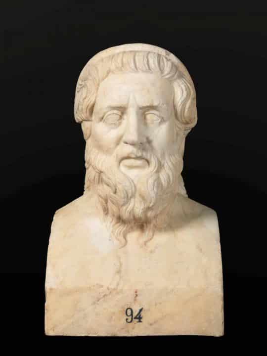 Busto de Homero, autor de la Iliada