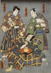 teatro Kabuki Kunisada Museo de arte nacional de Cataluña