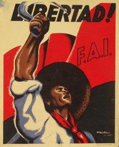 Carteles electorales en la II República y carteles electorales en la Guerra Civil cartel de la FAI