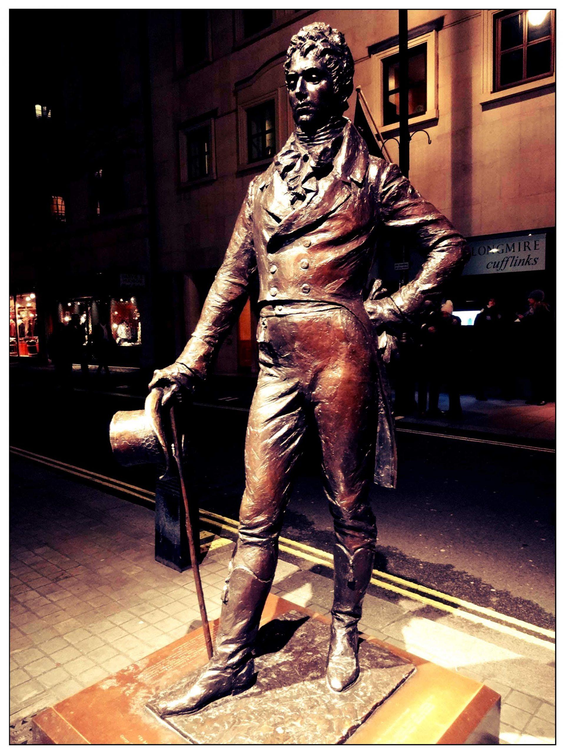 estatua Brummell Jermyn Street Londres