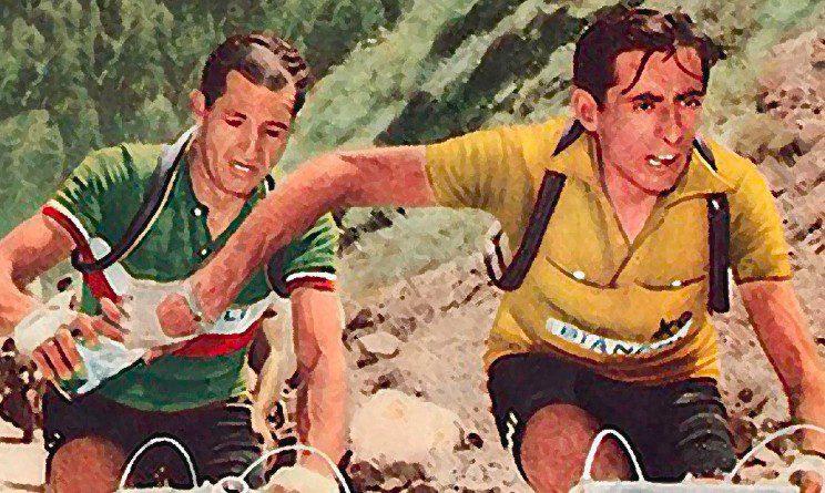 Fausto Coppi y Gino Bartali
