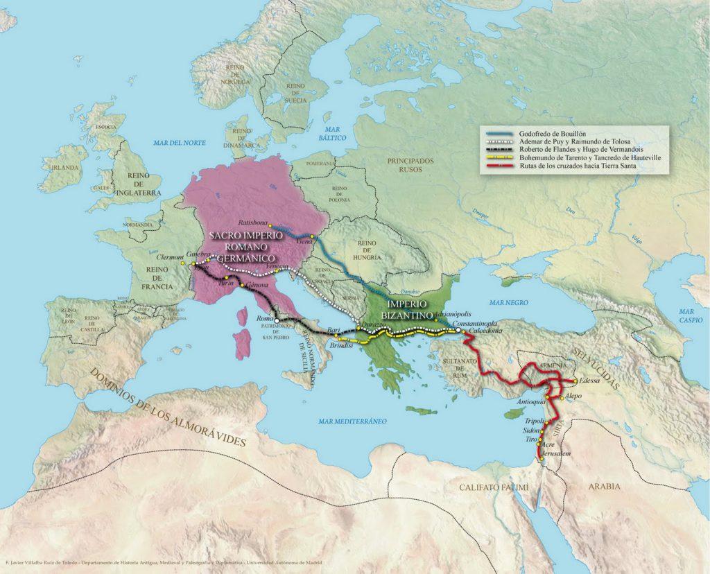 Mapa de la Primera Cruzada, Quienes participaron en la Primera Cruzada