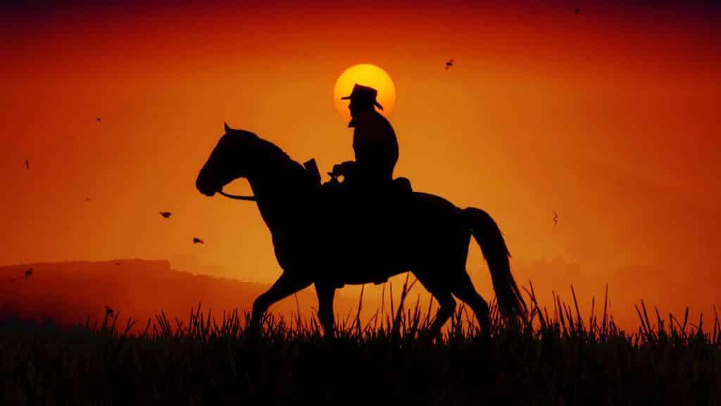 Jinite en la puesta de sol