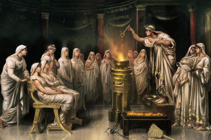 leyendas de las vestales mitos de vesta - virgenes vestales de Roma