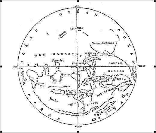 mapamundi musulman América descubrimiento