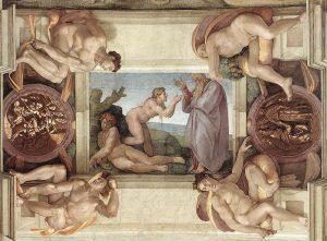 La creación de Eva, Miguel Ángel