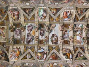 Capilla Sixtina del Vaticano pintada por Miguel Ángel por encargo del papa Julio II