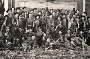 mineros asturianos en la revolución de Asturias