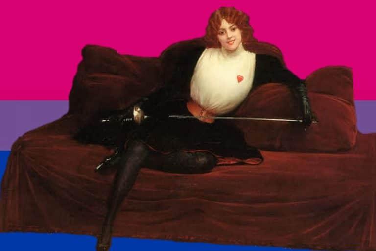 Julie d'Aubigny, Mademoiselle de Maupin. Bisexual, espadachina, cantante de ópera