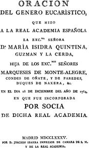 Oración dedicada a la Real Academia