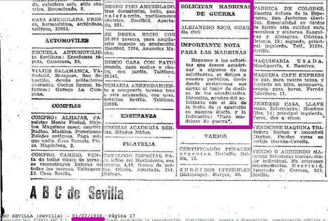 madrinas de guerra civil española madrina de guerra definicion