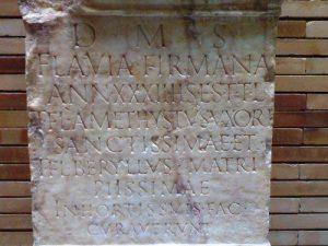 lapida funeraria romana