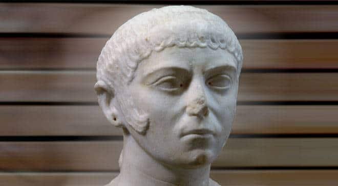 Gitana. Museo Nacional de Arte Romano de Mérida retrato romano femenino