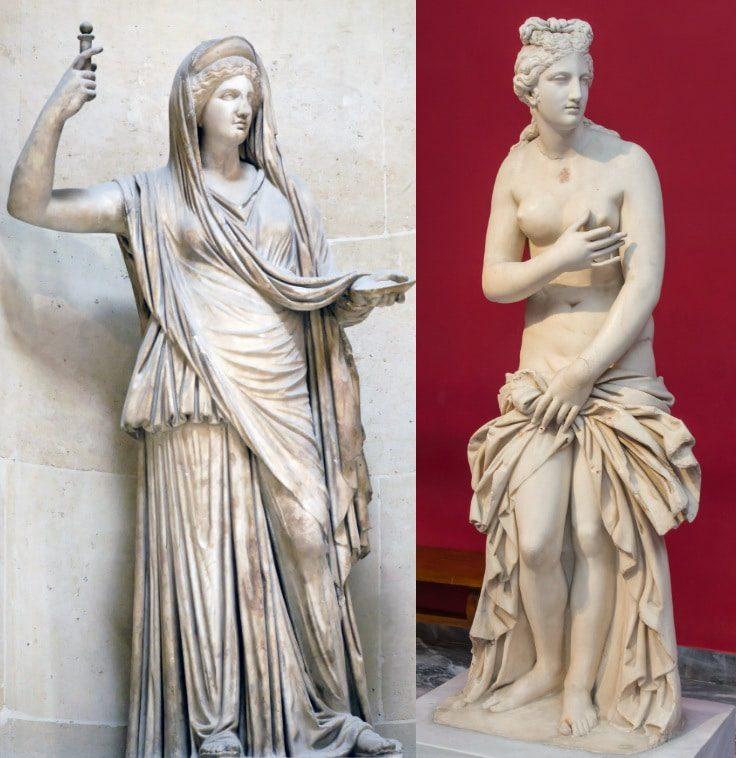 Hera y Afrodita dos ejemplos de mujer griega