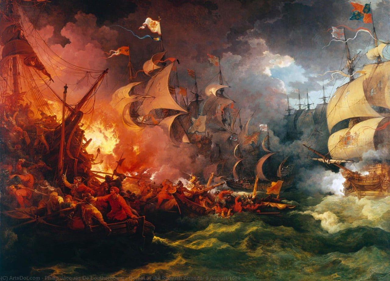 Derrota de la Gran Armada en Plymouth