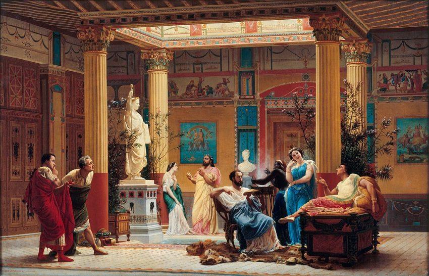 Banquete romano. Gustave Boulanger. 1861 banquete patricio romano