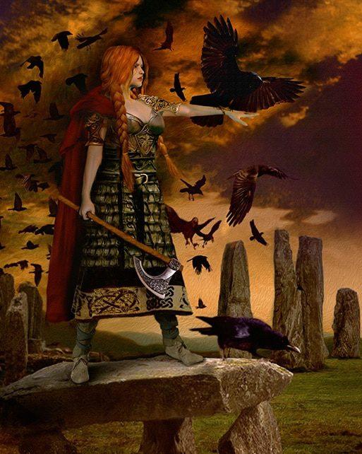 morrigan diosa cuervo morrigan diosa celta de la guerra