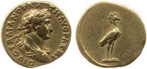 Áureo de Adriano - moneda ave fénix