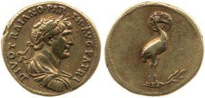 Áureo de Adriano - moneda fénix