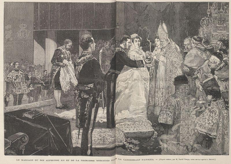 historia de la boda de alfonso xii y maría de las mercedes