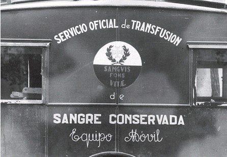 Transfusiones de sangre en el frente durante la Guerra Civil española