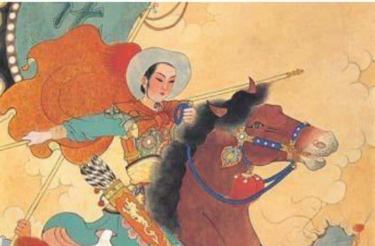 Dibujo de la historia real de Mulán de Disney - la princesa china guerrera