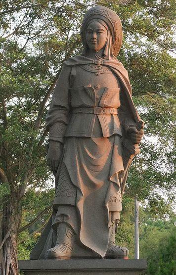 escultura mulán china verdadera