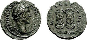 Antonio Pío moneda con ancilia