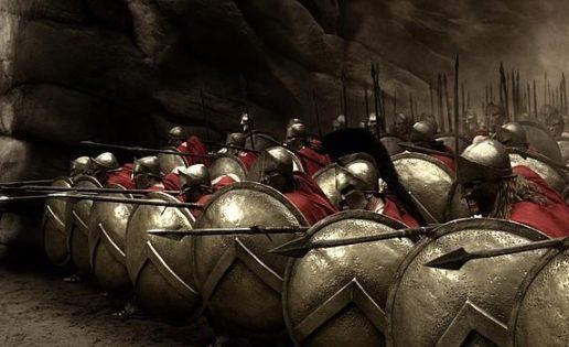 mentiras sobre Esparta la letra lambda y el escudo