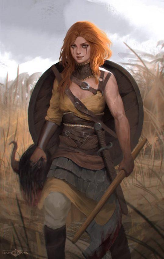 skjaldmö doncellas escuderas mujeres guerreras vikingas