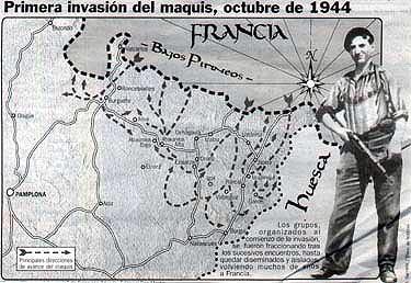 invasion republicana guerrillera del valle de aran en 1944 por los maquis