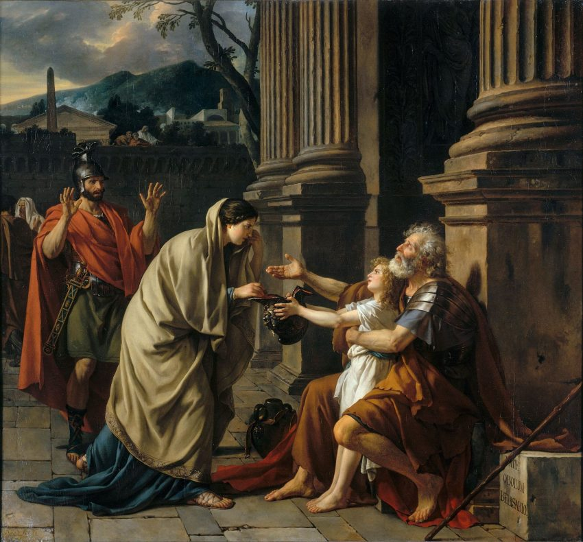 Belisario pidiendo limosna. Jacques-Louis David