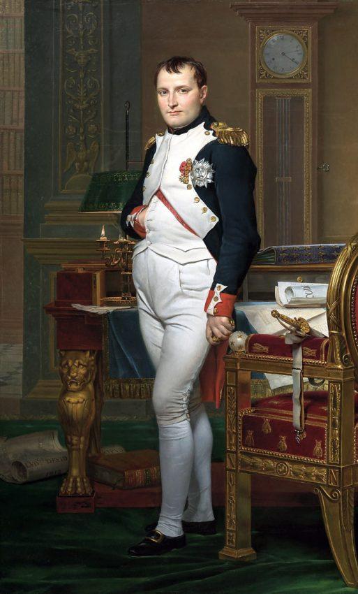 El Emperador Napoleón en su estudio de las Tullerías - David obras