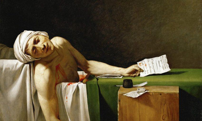 La muerte de Marat. Jacques-Louis David obras
