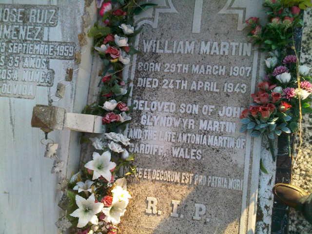 William_Martin_Lapida cementerio de la soledad en Huelva
