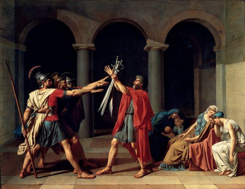 el juramento de horacios jacques-louis david obras