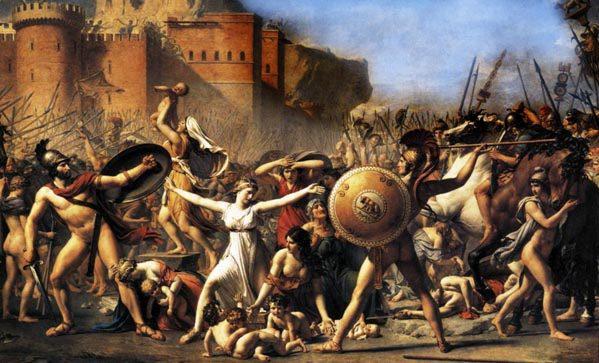 El rapto de las Sabinas de Jacques-Louis David