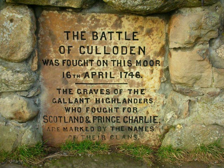El memorial por los caidos en Culloden.