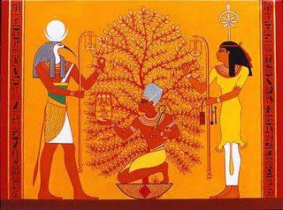 Thot y Seshat, dioses de la escritura egipcia
