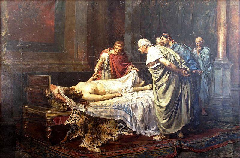 Nerón ante el cadáver de Agripina