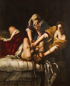Judith decapitando a Holofernes por Artemisia Gentileschi