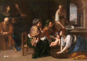 El nacimiento de San Juan Bautista por Artemisia Gentileschi